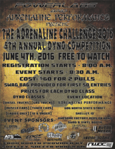 Flyer Adrenaline Challenge June 2016